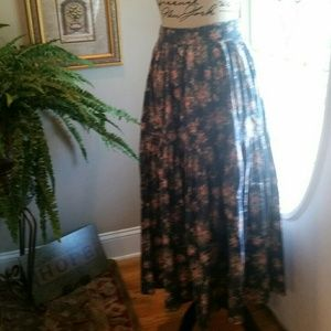 Laura Ashley Floral Print Tiered Skirt